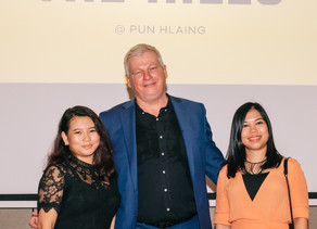 Residents at Pun Hlaing Estate celebrates the completion of the Club Lounge renovation project