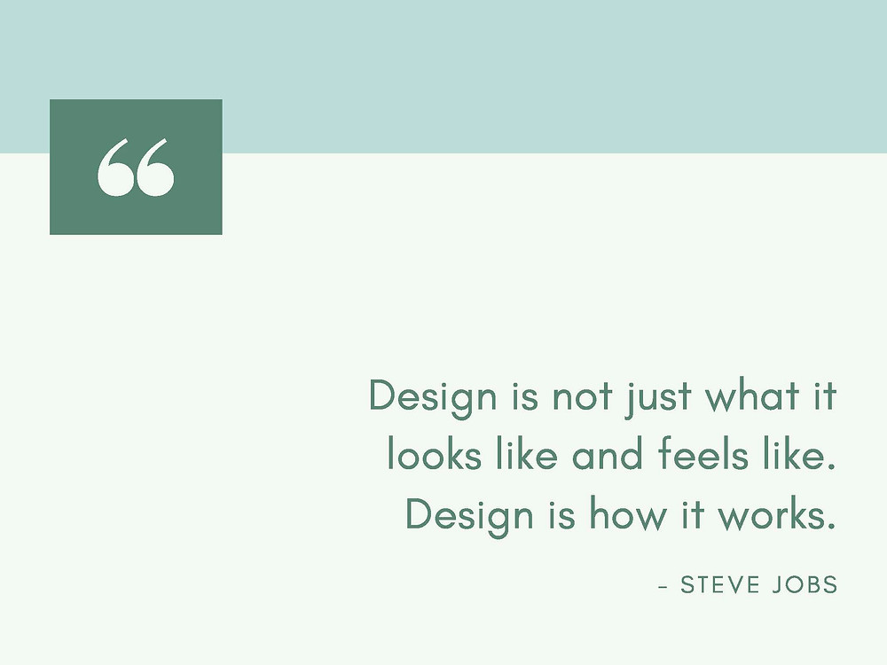 Quote for Deign, Steve Jobs Quote