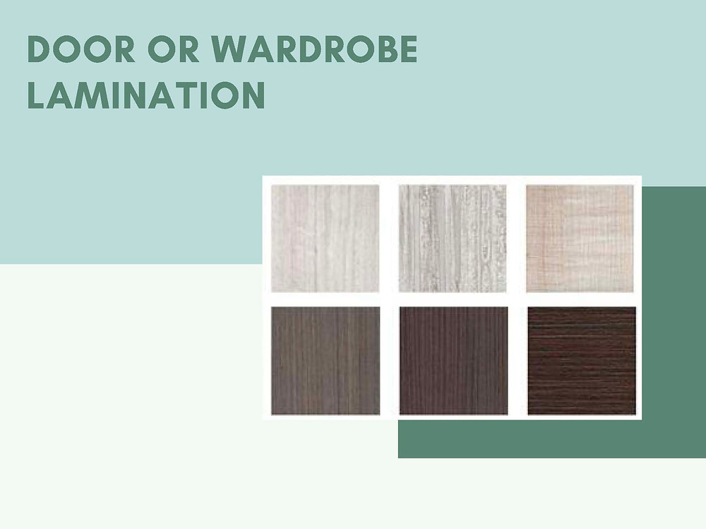 Lamination for Door or Wardrobe