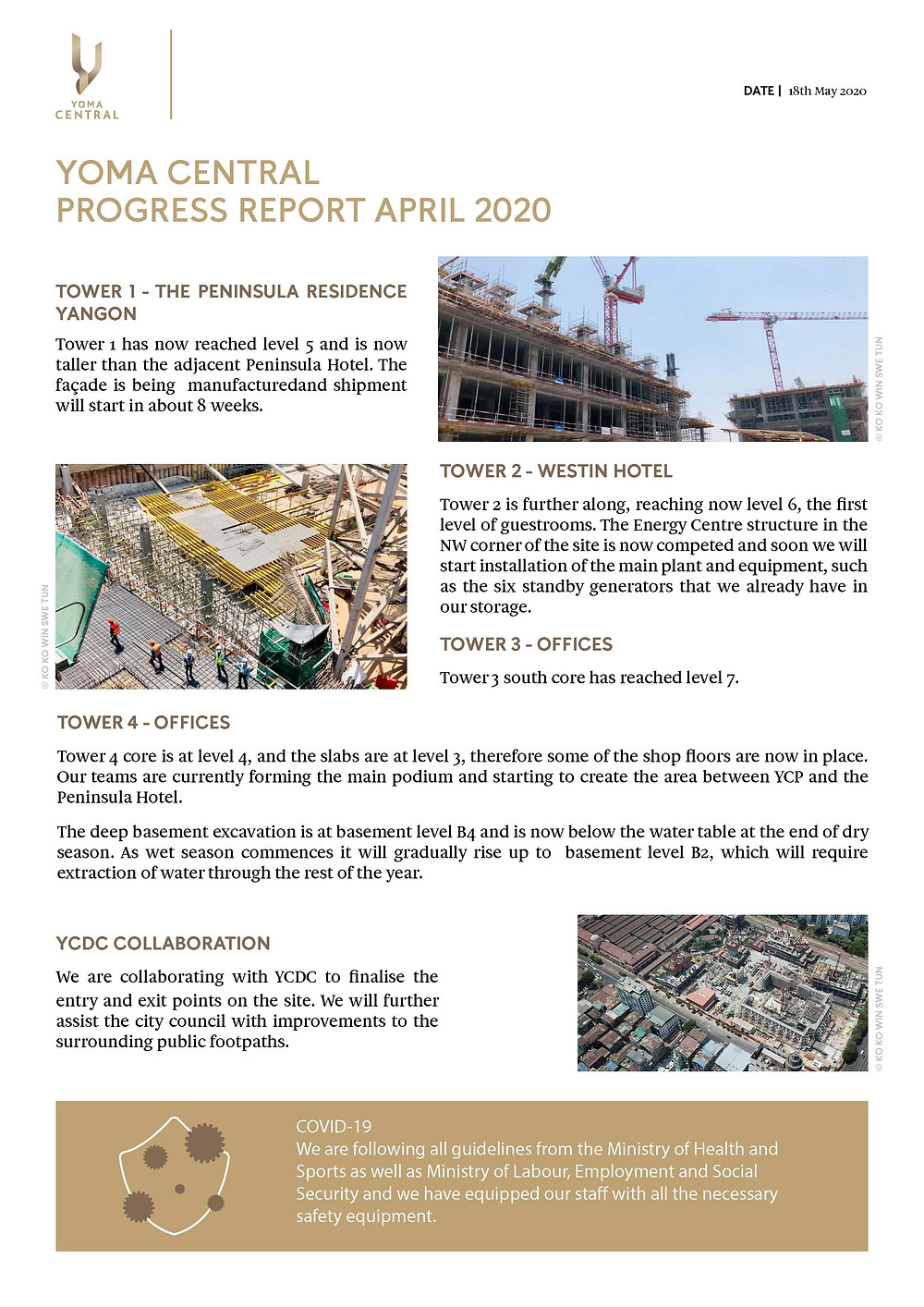 Yoma central progress report april 2020