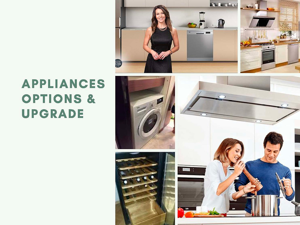 Home Appliances Options and Upgrade