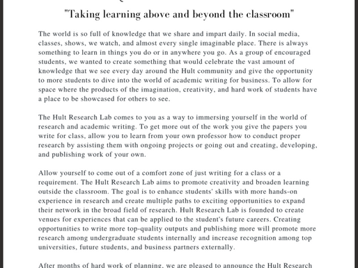 """Taking Learning Above and Beyond The Classroom"""
