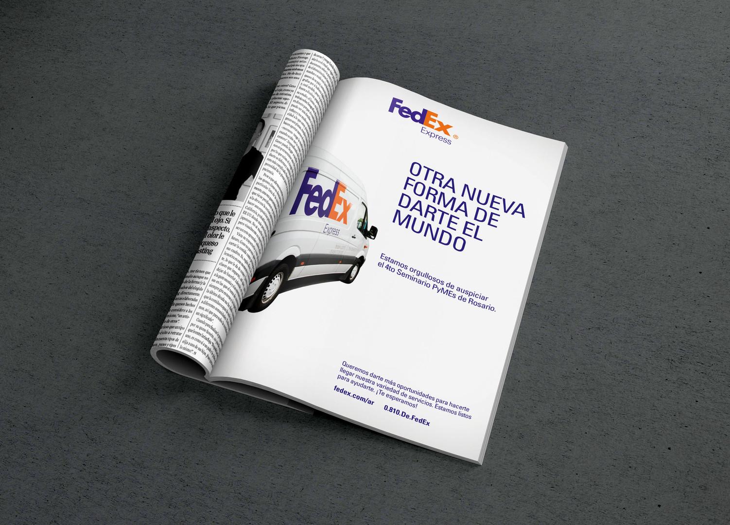 Fedex LATAM Magazine Ad  |  2016