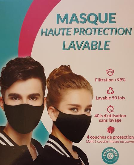 Masque aux nanoparticules de cuivre