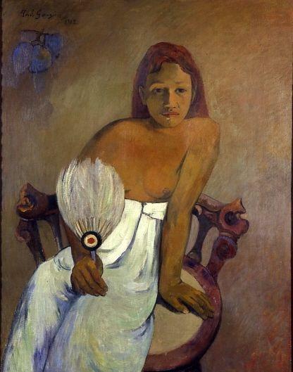 Jeune fille à l'éventail - Paul Gauguin