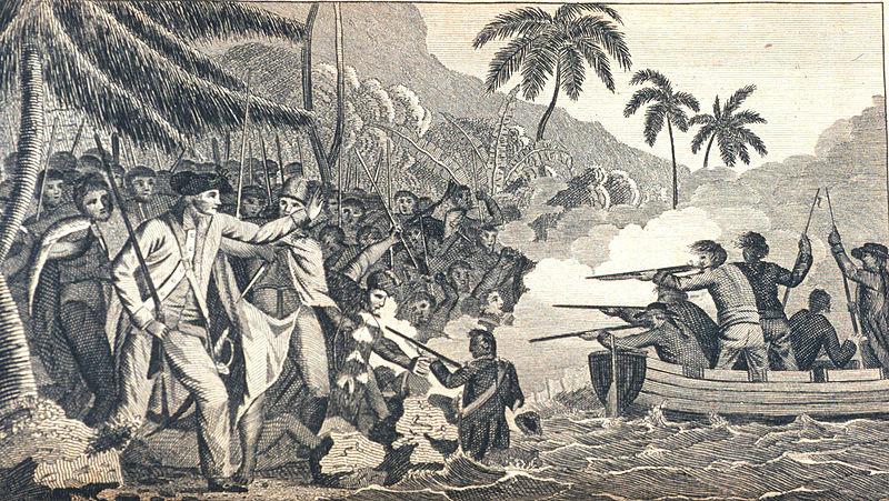 La mort du Capitaine Cook