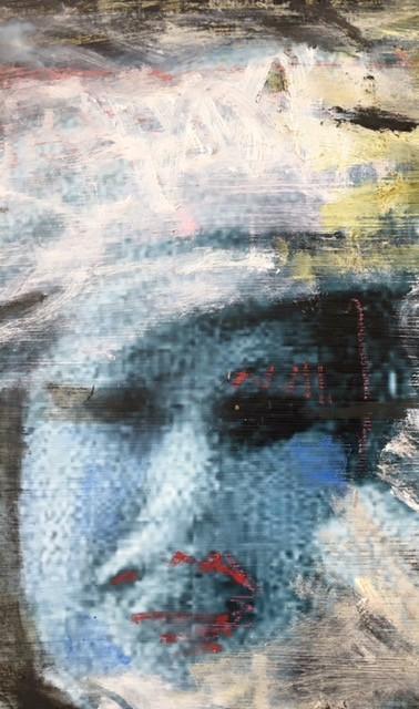 Rage (study), Detail, digital print mixe