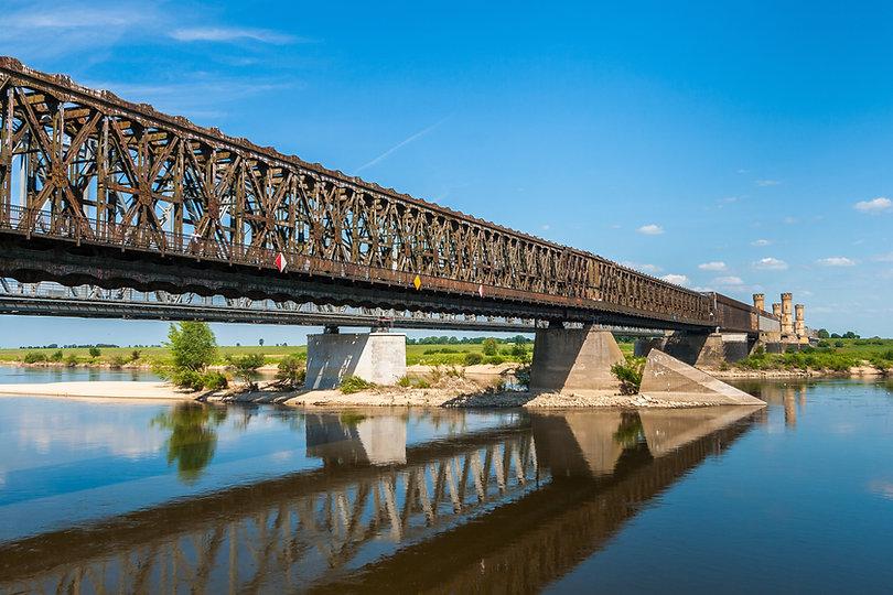 Old bridge on the river Vistula in Tczew