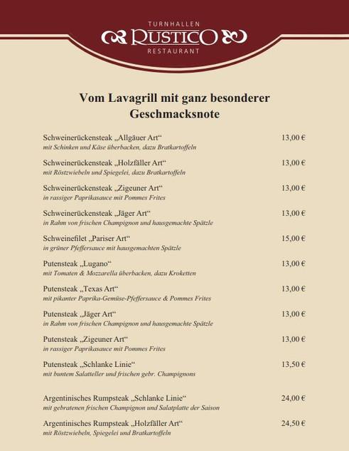 Speisekarte | Restaurant Rustico | Heuchelheim | Deutsche ...