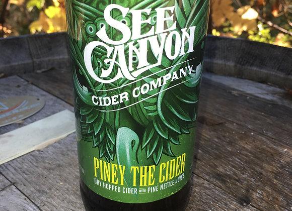 Case of 12 Piney The Cider 16.9oz bottles (500ml)