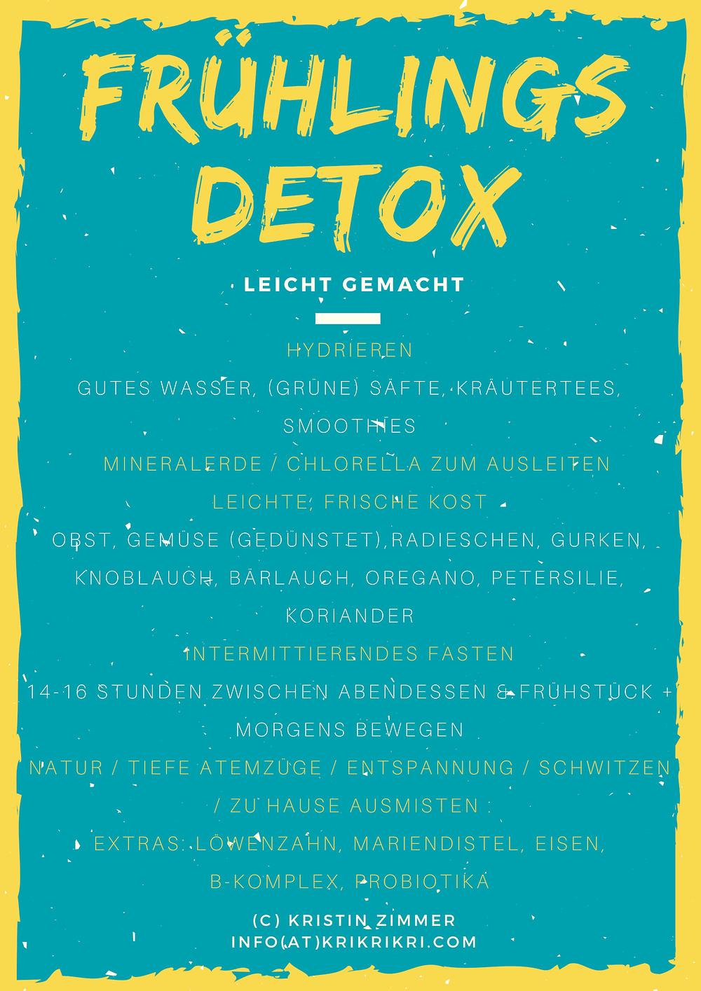 Frühjahrsmüdigkeit besiegen, Detox, Gießen, Yoga, Blog, Ernährung