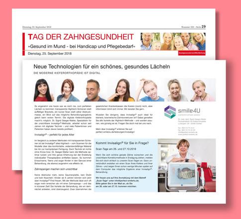 Referenz - KFO smile4u Gießen - Bildbearbeitung zu Werbezwecken