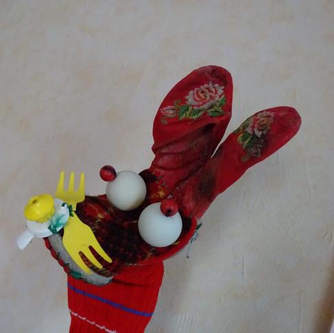 Marionnette à gaine lapin