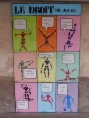 """""""Droit des enfants"""", panneau en bois. Taille 200x120cm. Réalisé à l'école primaire de Vincelles."""