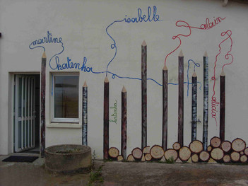 Fresque peinture réalisée à l'écoles Ime des Isles.