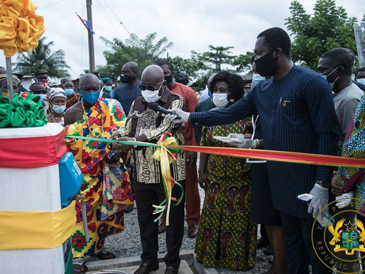 PRESIDENT AKUFO-ADDO COMMISSIONS 146 WATER SYSTEMS IN THE CENTRAL REGION