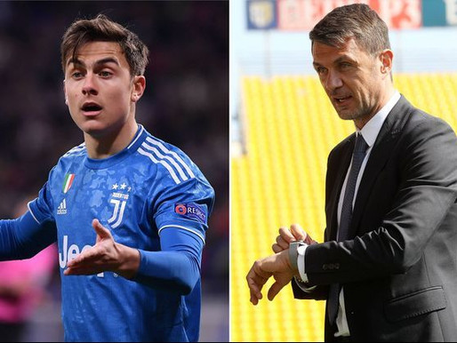 CORONAVIRUS: PAULO DYBALA AND PAOLO MALDINI TEST POSITIVE