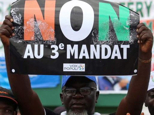 IVORY COAST: OUATTARA'S THIRD-TERM BID SPARKS PROTESTS FROM CITIZENS
