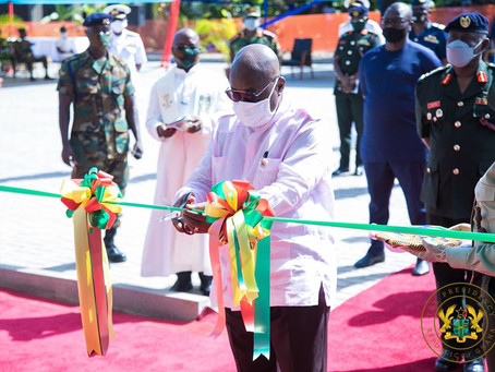 PRESIDENT AKUFO-ADDO COMMENDS MILITARY FOR EXEMPLARY COVID-19 FIGHT; COMMISSIONS HOUSING APARTMENTS