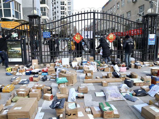EPIDEMIC BOOSTS DELIVERY BUSINESS