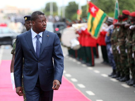 TOGO'S PRESIDENT FAURE GNASSINGBÉ SWORN IN FOR FOURTH TERM