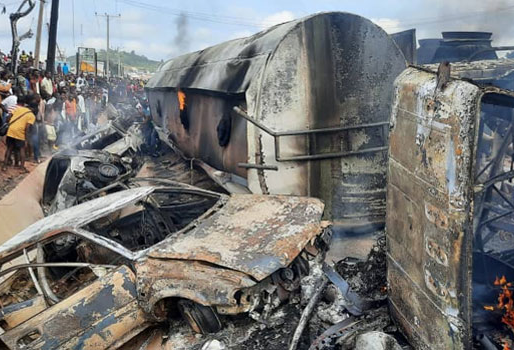 FUEL TANKER EXPLOSION KILLS 25 PEOPLE IN NIGERIA