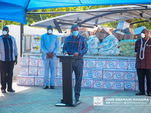 FORMER PRESIDENT JOHN MAHAMA SUPPORTS 20,000 HOUSEHOLDS WITH FOOD ITEMS