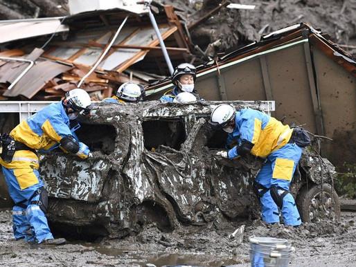 VIDEO: JAPAN LANDSLIDE: 20 PEOPLE MISSING IN ATAMI CITY