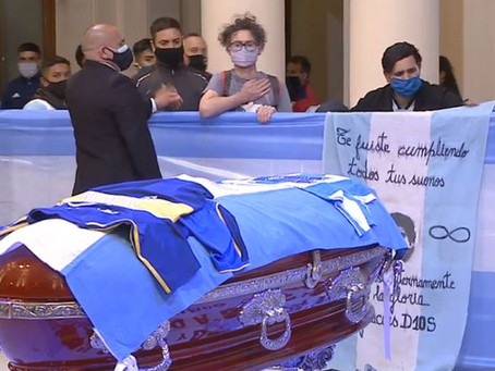 DIEGO MARADONA: FOOTBALLER LAID TO REST AS ARGENTINA GRIEVES