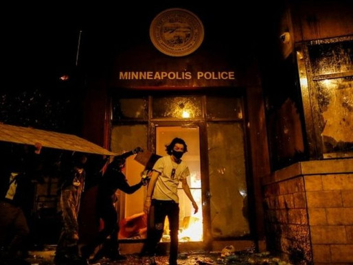 VIDEO: PROTESTERS SET MINNEAPOLIS POLICE STATION ABLAZE DAYS AFTER THE DEATH OF GEORGE FLOYD