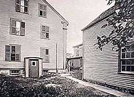 Lizzie Borden, East back yard, side of barn