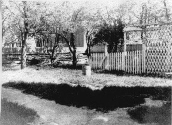 Lizzie Borden, Looking into Southeast corner of lot toward the Crow barn