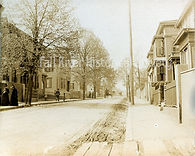Lizzie Borden, Second Street looking south. Borden home is second on the left.