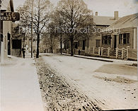 Lizzie Boeden, Second Street from the corner of Spring Street, looking north. Borden home is second on the right.