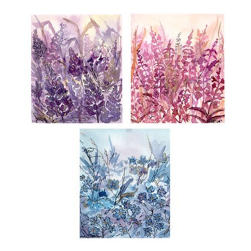 Alaskan Wildflower Cards - Set of 12