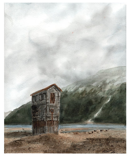 Pumphouse in April - Print