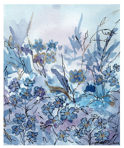 Forget-Me-Not - Greeting Card