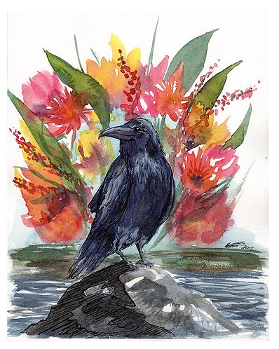 Fauna: Raven Greeting Card