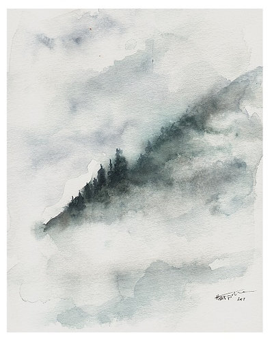 Misty Mountains - Greeting Card