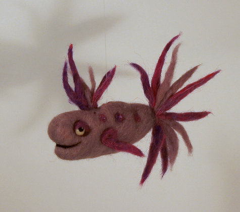 Thistle Scented Needle Felted Fish