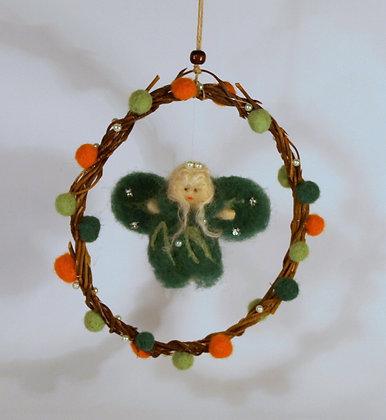 Needle felted fairy mobile,  Irish nature fairy