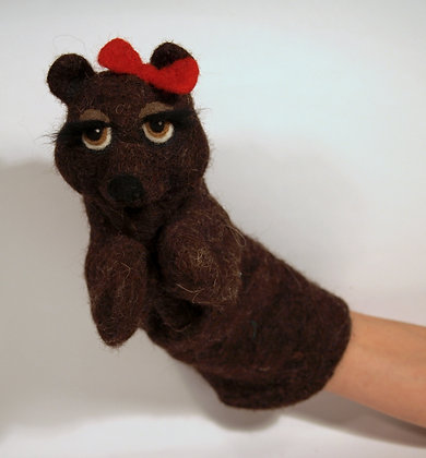 Choco Bobetta the bear, original hand made puppet