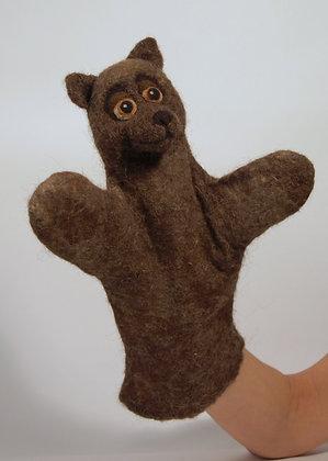 Bobo the bear, original hand made puppet