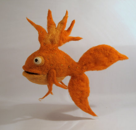Sunny Scented Needle Felted Fish
