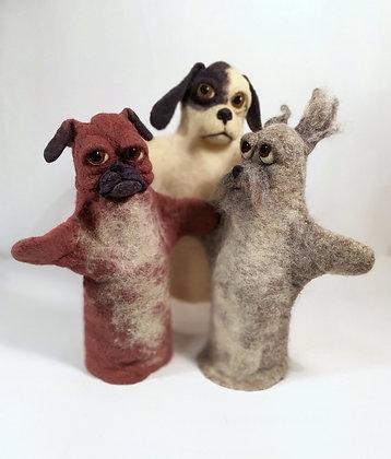 Dog glove puppets