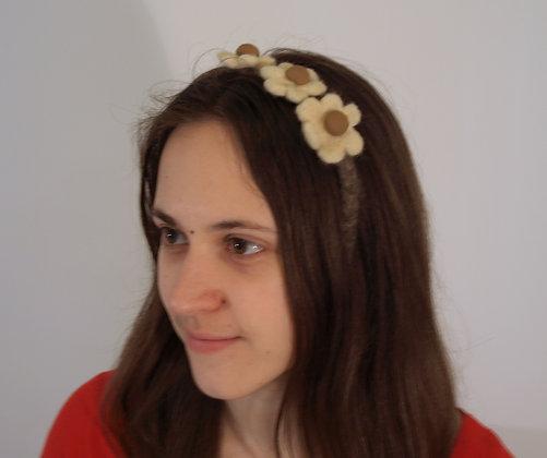 Felted flower headband