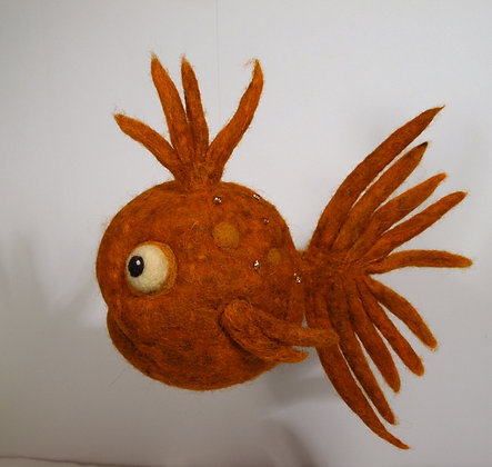 Sherbert Scented Needle Felted Fish