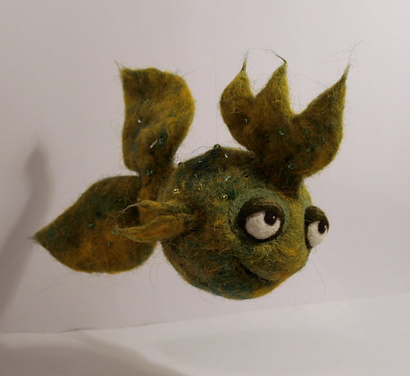 Anjelica Scented Needle Felted Fish