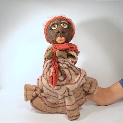 Black lady hand puppet