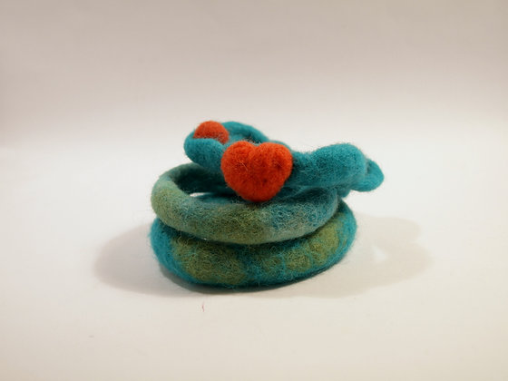 A Set of 3 Felted Bangles